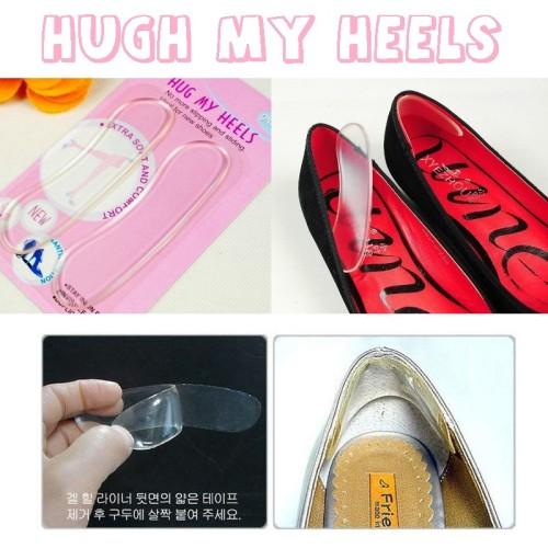 Foto Produk Bantalan Silikon Pelindung Tumit Kaki Sepatu High Heels Shoes Pads Pad dari All Season