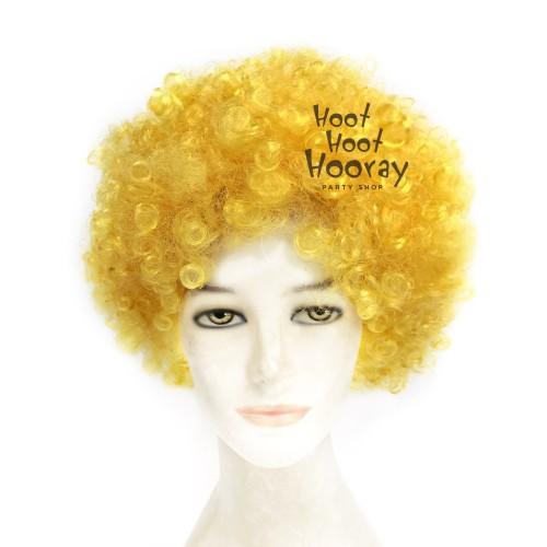 Foto Produk Wig Kuning / Wig Kribo Kuning / Wig Badut / Wig Cosplay / Rambut Palsu dari Hoot Hoot Hooray