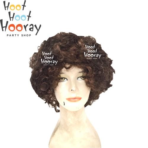 Foto Produk Wig Coklat / Wig Kribo Coklat / Wig Badut / Wig Cosplay / Rambut Palsu dari Hoot Hoot Hooray
