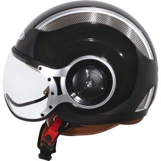 Foto Produk Helm Zeus 218 Retro Pilot Half Face Black dari Bursa Sparepart Asia