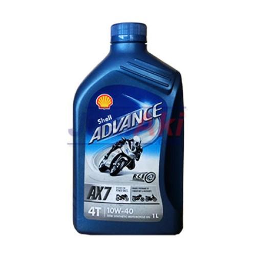 Foto Produk Shell Advance AX7 4T SAE 10W40 Liter dari JualAki
