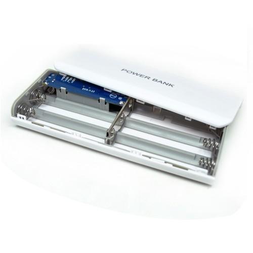 Foto Produk Exchangeable Cell Power Bank Case For 5Pcs Battery 18650 Casing PB - Putih dari lbagstore