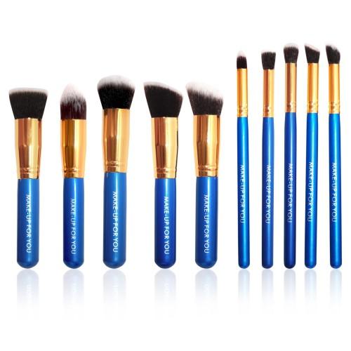 Foto Produk Brush Set Makeup for you - The Basic 10 Deep Blue with Gold Bezel dari twindshop