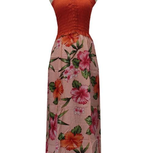 Foto Produk Kampung Souvenir - Long Dress Safira - Jingga Salem2 dari bali ks