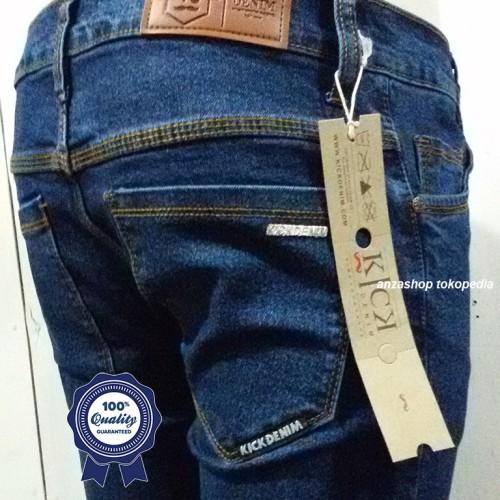 Foto Produk Celana Jeans Branded Kick Bandung Pensil/Skinny/Streach Biowash CO dari Anza Shop