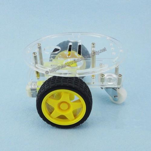 Foto Produk 2WD Mini Round Double Deck Smart Robot Car Chassis for Arduino etc dari TOKO BEY