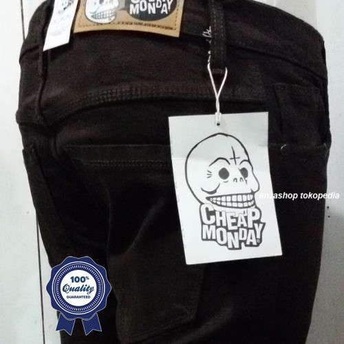 Foto Produk Celana Jeans Branded CheapMonday Bandung Pensil/Skinny/Streach Coklat dari Anza Shop