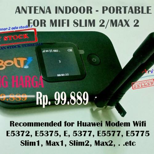 Foto Produk ANTENA INDOOR PORTABLE FOR MODEM WIFI BOLT 4G SLIM2 MAX 2 HUAWEI E5577 dari Ari C