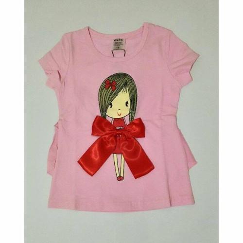Foto Produk Atasan cute girl with bigbow IMPORT - Pink Muda dari EmilyLittleShop