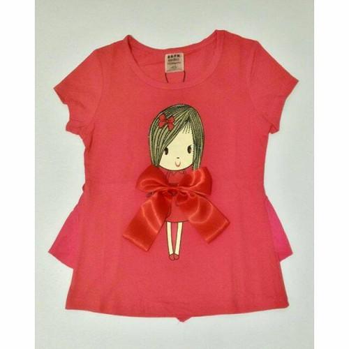 Foto Produk Atasan cute girl with bigbow IMPORT - Merah Jambu dari EmilyLittleShop