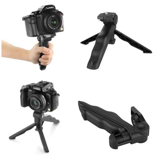 Foto Produk 2 in 1 Portable Mini Folding Hand Monopod Stand Tripod DSLR Camera dari lbagstore