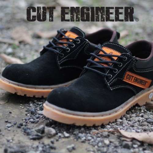 Foto Produk Cut Engineer Safety Rubber Low Boots Leather Hitam dari Cut Engineer
