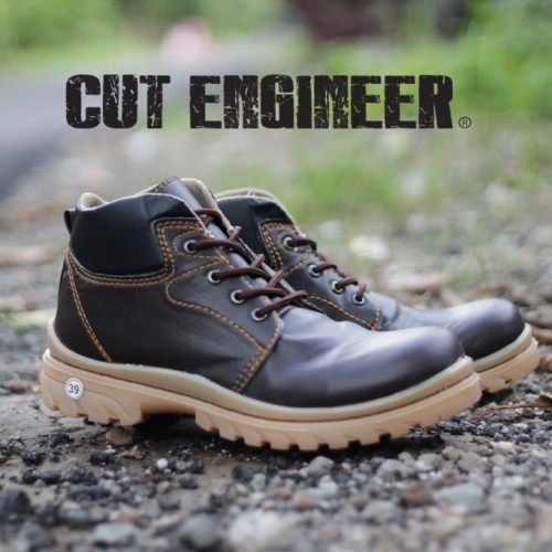 Foto Produk Cut Engineer Trainer Work Safety Boots Leather Dark Brown dari Cut Engineer