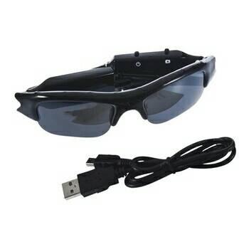 Foto Produk Hidden Spy Cam Sunglasses Video Recorder Kaca Mata Kamera Rahasia dari La'Sya Etalase