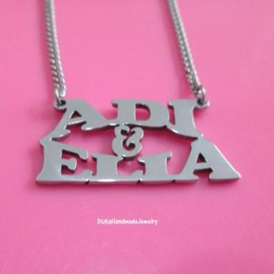 Foto Produk Kalung 2 Nama Font Tegak dari SAFA ASESORIS