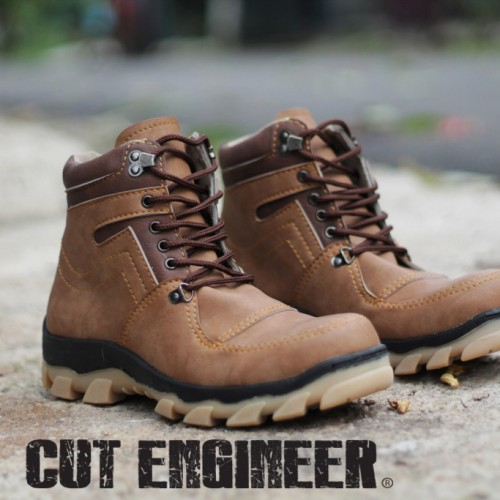Foto Produk Cut Engineer Chelsea Safety Boots High Leather Brown (114) dari Cut Engineer