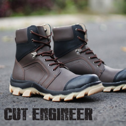 Foto Produk Cut Engineer Fosfor Safety Boots Leather Dark Brown (108) dari Cut Engineer