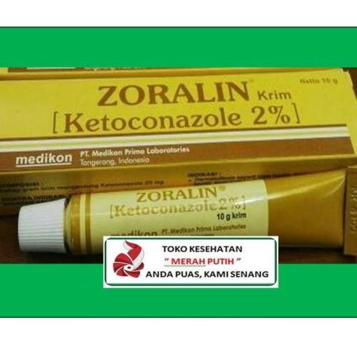 Foto Produk ZORALIN KRIM 10 GRAM 2% / SALEP PENGOBATAN JAMUR dari TK KESEHATAN MERAH PUTIH