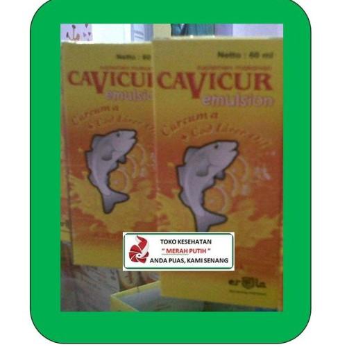 Foto Produk CAVICUR EMULSION KEMASAN 60 ML / VITAMIN NAFSU MAKAN ANAK dari TK KESEHATAN MERAH PUTIH
