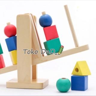 Foto Produk Mainan Edukatif / Edukasi Anak - Geo Balance Timbangan Geometric Warna dari Toko DnD