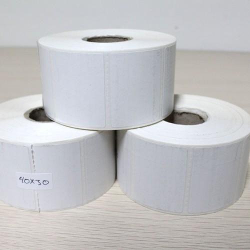 Foto Produk Stiker Kertas Label Barcode Thermal ukuran 40x30mm dari Alat POS Kasir
