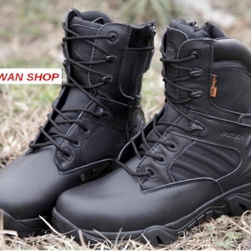 Foto Produk SEPATU DELTA FORCE 8'' BLACK / BOOTS USA IMPORT TACTICAL ARMY dari najwan shop