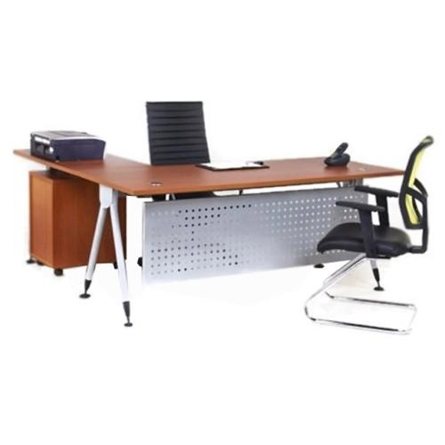 Foto Produk meja kantor direktur aditech model L modern design dan kuat dari centralfurniture