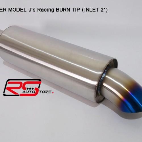 Foto Produk Knalpot/Muffler model Js Racing Burn Tip, Made In Taiwan. Universal. dari RS-Autostore