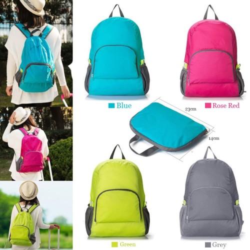 Foto Produk Foldable Backpack / Travel / Tas Punggung Lipat / Ransel Traveling - Hitam dari I-Tech Accessories HP