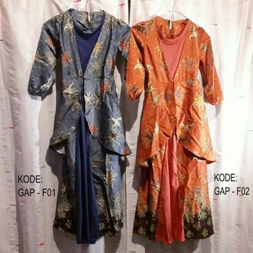 Foto Produk BAJU MUSLIM ANAK PEREMPUAN GAMIS DRESS PASHMINA BATIK SATIN JERSEY dari Reisya busana & aksesori