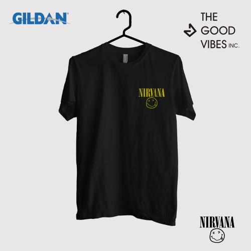 Foto Produk Kaos Band Nirvana Original Gildan - Logo Small dari Good Vibes Inc