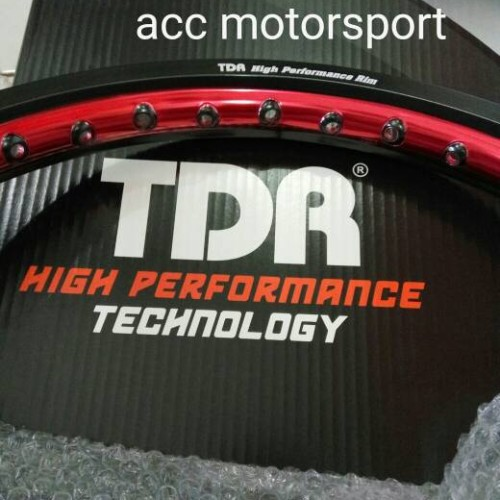 Foto Produk Velg TDR 2 tone hitam merah / set dari PLIE