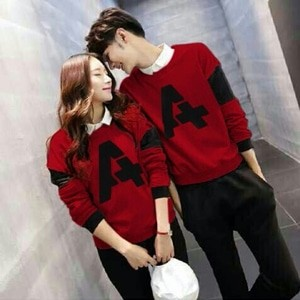 Foto Produk SWEATER COUPLE A RED ( BAHAN BABYTERRY ) dari Jakarta Couple
