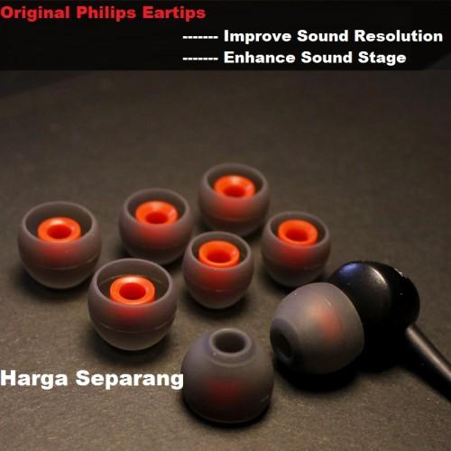 Foto Produk Original Philips SHE9000 Eartips / Karet Replacement (Harga Sepasang) - S, Merah dari Onebest Choice