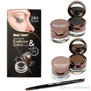 Foto Produk MUSIC FLOWER FASCINATED EYEBROW & EYELINER CREAM 24H dari Diin Shop