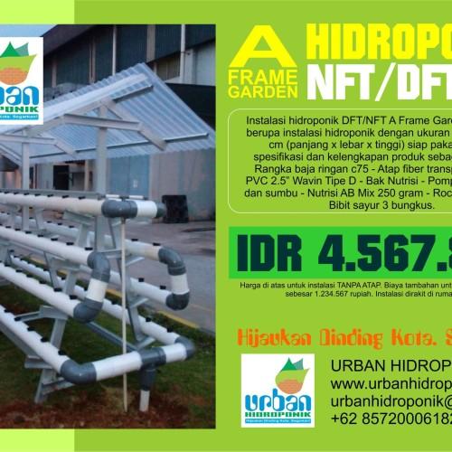 Foto Produk Instalasi Hidroponik A Frame Garden 4x1.2x1.5 Meter dari Urban Hidroponik
