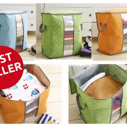 Foto Produk Cloth Storage Bag Box Tempat Penyimpanan Pakaian selimut bed cover - ORGE-STOP dari Travelbuddy