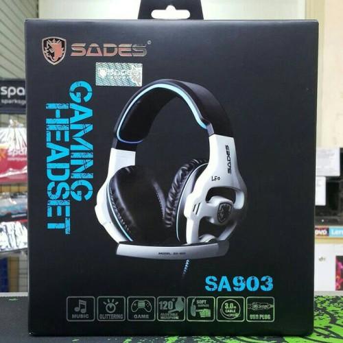 Foto Produk Sades 903 (SA 903 / SA903 ) Headset Gaming 7.1 ORIGINAL + lampu dari AngeLove