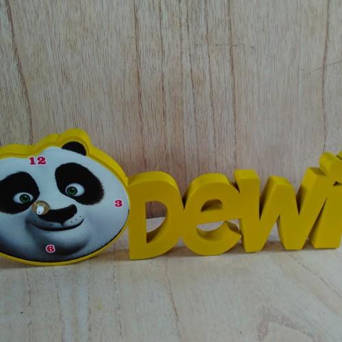 Foto Produk Jam nama karakter kado hadiah karakter kungfu panda dari woodjepara