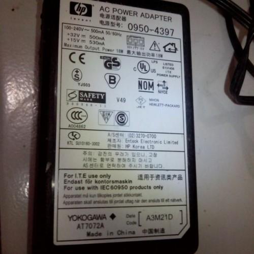 Foto Produk ADAPATOR PRINTER HP DESKJET POWER SUPPLY  SWITCHING 32V 15V dari kutauyangkumau