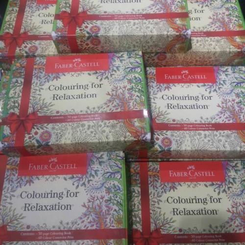 Foto Produk Faber Castell Colouring for Relaxation Gift Box / Set Buku Mewarnai dari EKA ATK