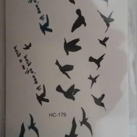 Foto Produk Temporary Bird tattoo sticker / tato burung / tatoo import dari HN Collections