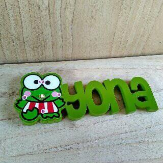 Foto Produk Jam nama karakter keroppi tinggi huruf 12 cm dari woodjepara