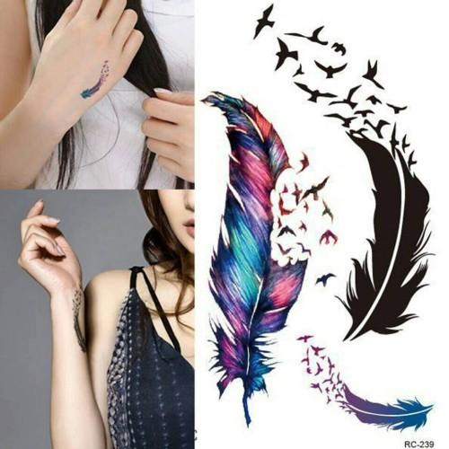 Foto Produk Temporary tattoo goose feather / tato trendy / tato import dari HN Collections