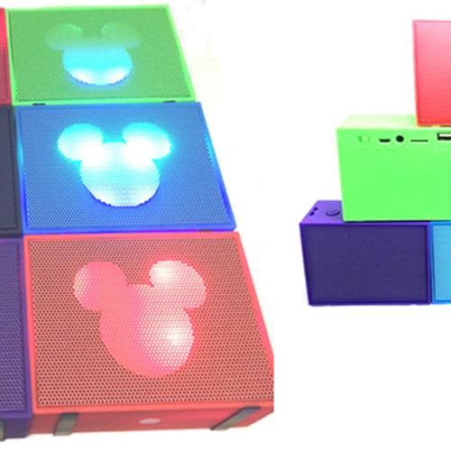 Foto Produk Bluetooth Mini Speaker LED Mickey Mouse (aux,tf card,usb) murah lucu dari Elenna-Store