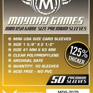Foto Produk Premium Card Sleeves 41x63 mm - Mini USA - Board Game Sleeves - Mayday dari Toko Board Game