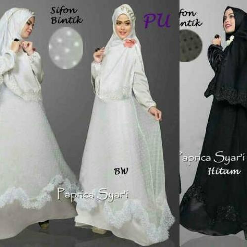 Foto Produk Ricca (Hitam, BW) by Pop Up dari Baju Muslim  Jogja