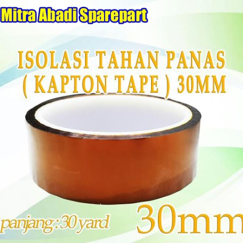 Foto Produk Isolasi Tahan Panas / Polyimide Tape / Kapton Tape 30mm 30 yard dari Mitra Abadi Spareparts