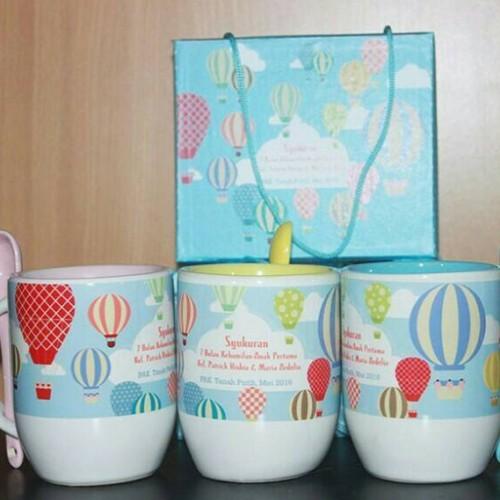 Foto Produk souvenir mug#mug custom#mug sendok#souvenir ultah#hampers dari Chloe boetik
