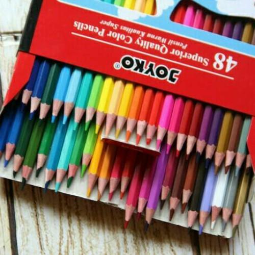 Foto Produk Pensil warna 48 warna Joyko dari Babyhoneybears